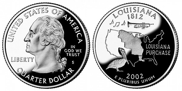 2002 S Proof Louisiana State Quarter