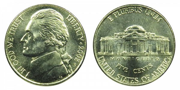 2002 P Jefferson Nickel