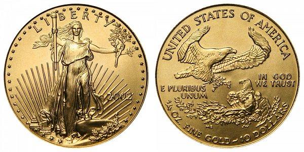 2002 Quarter Ounce American Gold Eagle - 1/4 oz Gold $10