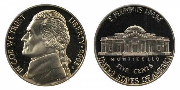 2002 S Jefferson Nickel Proof