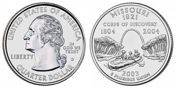 2003 D Missouri State Quarter