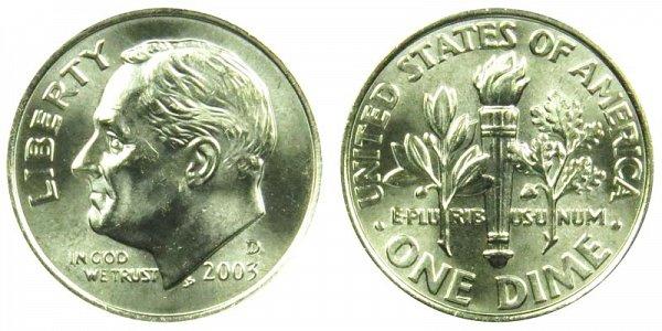 2003 D Roosevelt Dime
