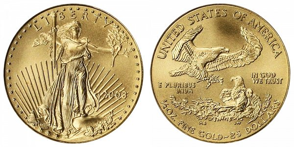 2003 Half Ounce American Gold Eagle - 1/2 oz Gold $25