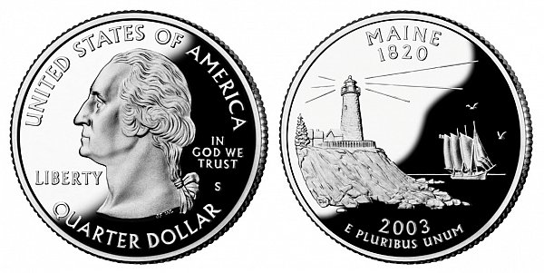 2003 S Proof Maine State Quarter