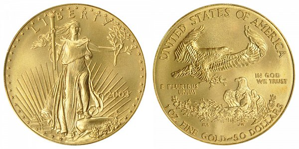 2003 One Ounce American Gold Eagle - 1 oz Gold $50