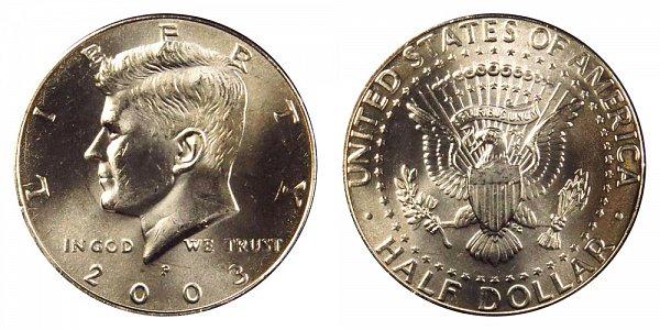 2003 P Kennedy Half Dollar