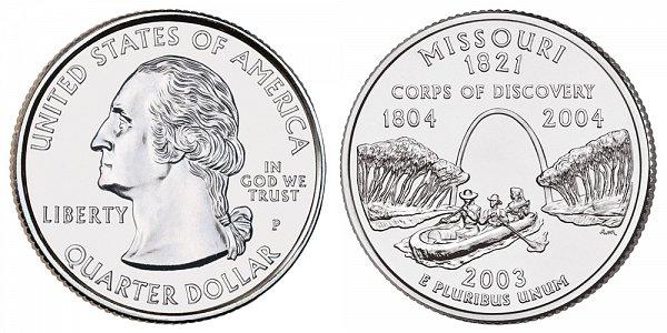 2003 P Missouri State Quarter