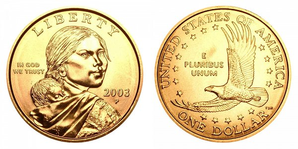 2003 P Sacagawea Dollar