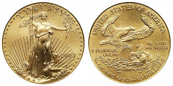2003 Quarter Ounce American Gold Eagle - 1/4 oz Gold $10