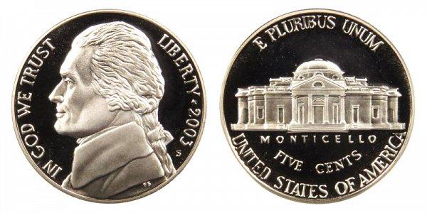 2003 S Jefferson Nickel Proof
