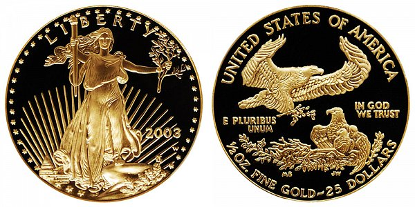 2003 W Proof Half Ounce American Gold Eagle - 1/2 oz Gold $25