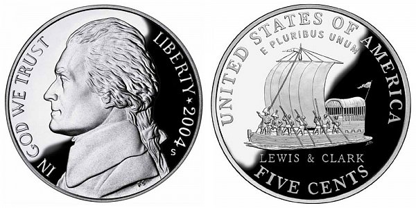2004 Westward Journey Jefferson Nickel - Keelboat