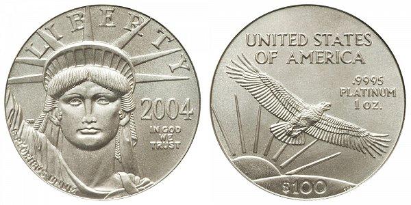 2004 One Ounce American Platinum Eagle - 1 oz Platinum $100
