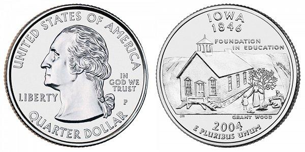 2004 P Iowa State Quarter