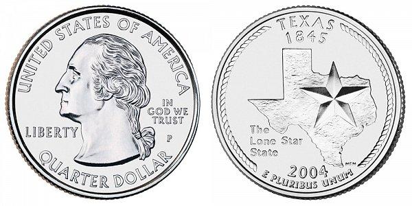 2004 P Texas State Quarter