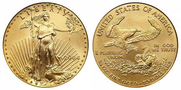 2004 Quarter Ounce American Gold Eagle - 1/4 oz Gold $10