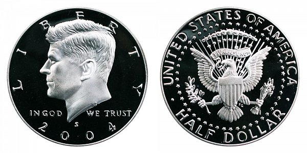 2004 S Silver Kennedy Half Dollar Proof