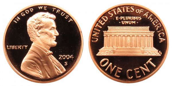 2004 S Lincoln Memorial Cent Penny Proof