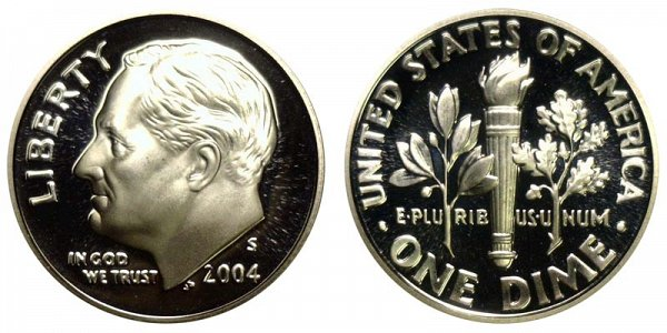 2004 S Roosevelt Dime Proof