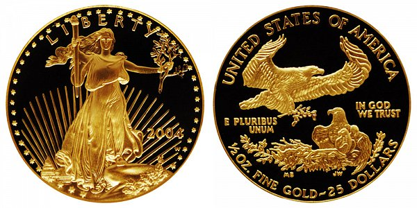 2004 W Proof Half Ounce American Gold Eagle - 1/2 oz Gold $25