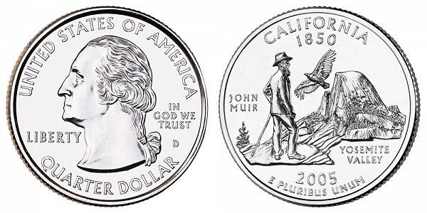 2005 D California State Quarter