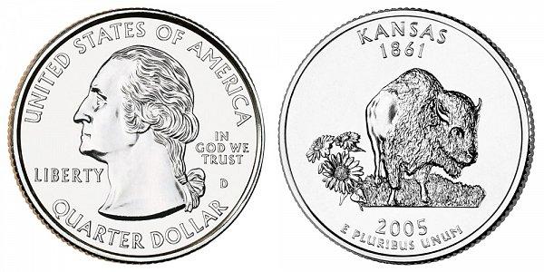 2005 D Kansas State Quarter