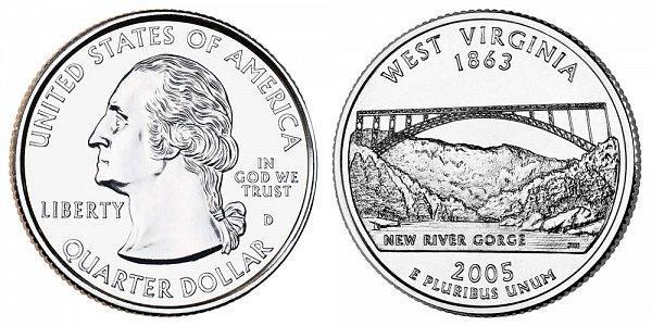 2005 D West Virginia State Quarter