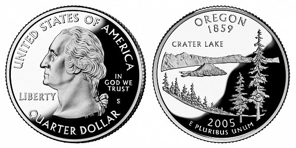 2005 S Proof Oregon State Quarter