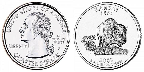 2005 P Kansas State Quarter