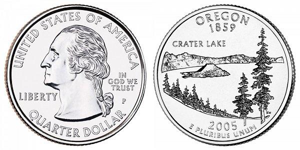 2005 P Oregon State Quarter