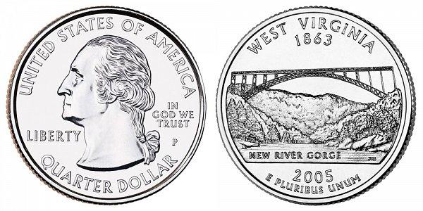 2005 P West Virginia State Quarter