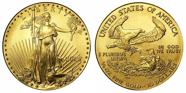 2005 Quarter Ounce American Gold Eagle - 1/4 oz Gold $10