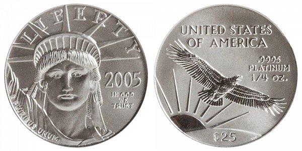 2005 Quarter Ounce American Platinum Eagle - 1/4 oz Platinum $25
