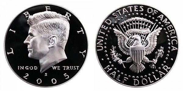 2005 S Silver Kennedy Half Dollar Proof