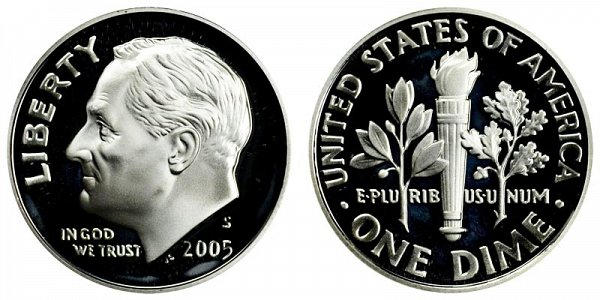 2005 S Silver Roosevelt Dime Proof