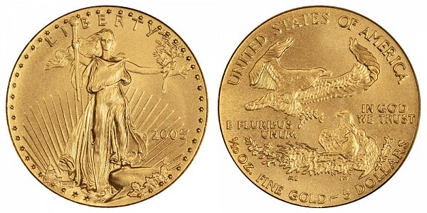 2005 Tenth Ounce American Gold Eagle - 1/10 oz Gold $5