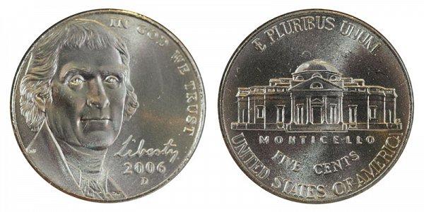 2006 D Jefferson Nickel