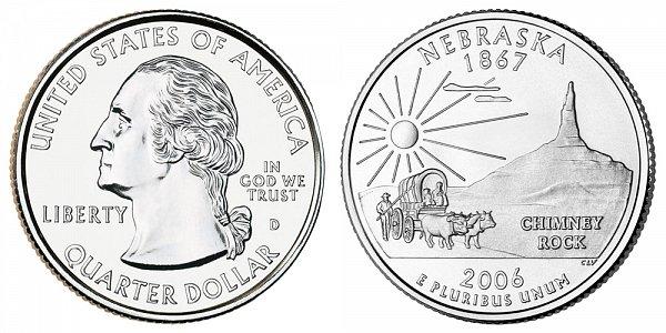 2006 D Nebraska State Quarter