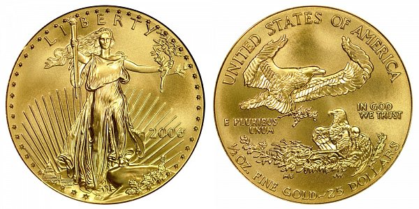 2006 Half Ounce American Gold Eagle - 1/2 oz Gold $25