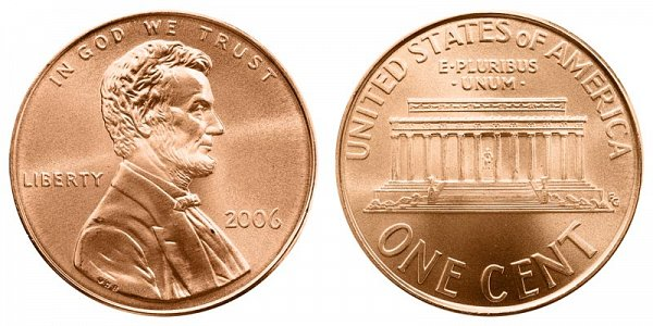 2006 Lincoln Memorial Cent Penny