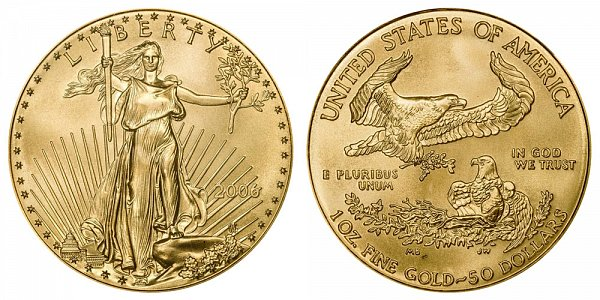 2006 One Ounce American Gold Eagle - 1 oz Gold $50