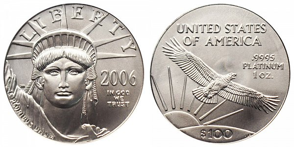 2006 One Ounce American Platinum Eagle - 1 oz Platinum $100