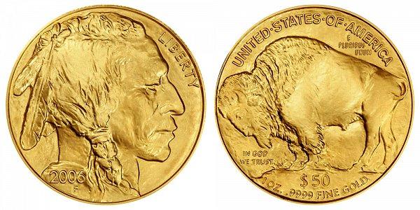 2006 One Ounce Gold American Buffalo - 1 oz Gold $50