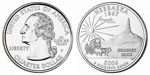 2006 P Nebraska State Quarter