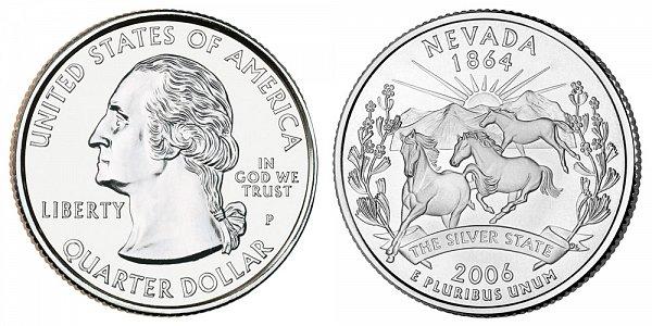 2006 P Nevada State Quarter