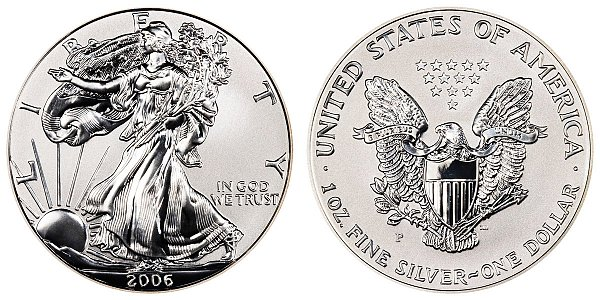 2006 P Reverse Proof American Silver Eagle