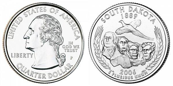 2006 P South Dakota State Quarter