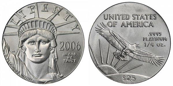 2006 Quarter Ounce American Platinum Eagle - 1/4 oz Platinum $25