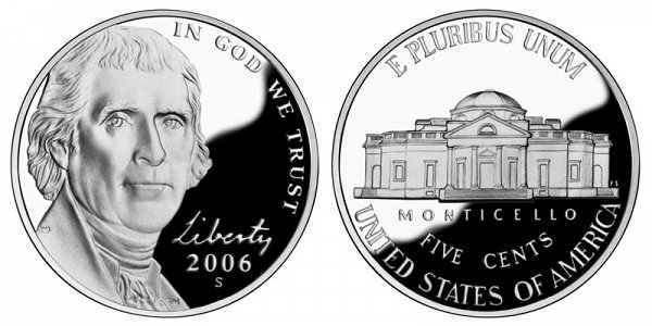 2006 S Jefferson Nickel Proof