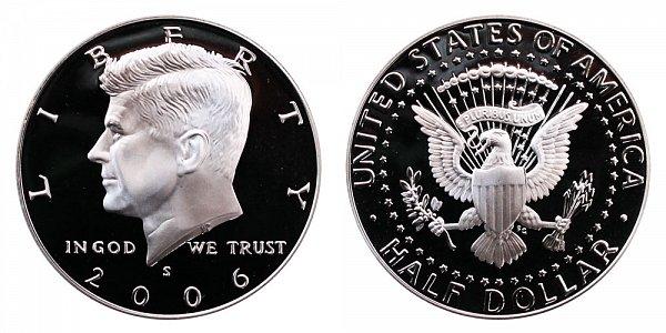 2006 S Silver Kennedy Half Dollar Proof